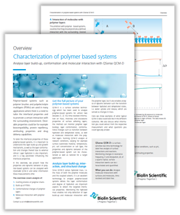 Characterization of polymer based systems