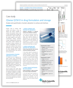 Protein adsorption in drug formulation and storage