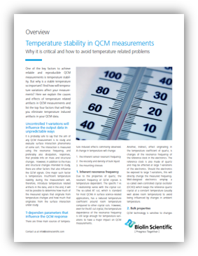 The importance of temperature stability in QCM measurements