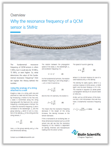 Why the resonance frequency is 5MHz